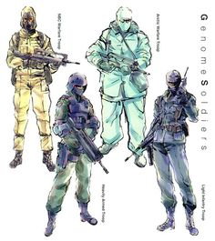 Genome Soldiers, Metal Gear Solid 1