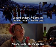 December 25th. Weight 140 pounds ~ Bridget Jones's Diary (2001) ~ Movie Quotes