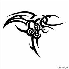 Tribal-Spiral by vectorvillainstv on deviantart tatoo ideas тату, рисунки и Spiral Tattoos, Celtic Dragon Tattoos, Celtic Tribal, Deviantart Tattoo, Cool Tribal Tattoos, Tattoo Flash Art, Tattoos For Women Small, Pottery Painting, Drawings