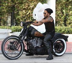 Celebs Who Ride Motorcycles | Lenny Kravitz Takes A Ride Through Miami | Celebrity Cars Blog