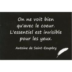Carte Postale - Citation d'Antoine de Saint-Exupéry