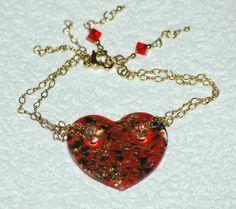 Shimmering Heart  bracelet by paulastonebuckner on Etsy, $25.00
