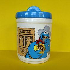 Vintage 80's Cookie Monster Thief Jar Sesame Street Ceramic Muppets Demand Marke #DemandMarketingHendersonKY