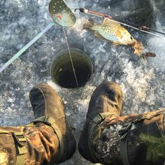 Brad Gudenkauf - Crappies don't care about whipping wind and -27 windchill and neither do I - Big Sandy Lake, McGregor, MN #mukluk #stegermukluks