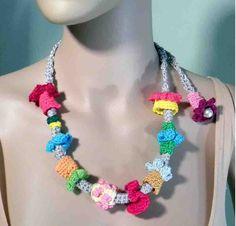 STYLISH FEMININE NECKLACE  Wearable Fiber Art Jewelry by julianata, $45.00