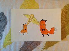 """-69: Descrizione suggerita dalla mia co-produttrice: Volpgardium Leviosa! Description suggested by my co-producer: Volpgardium Leviosa! [n.d.r.: """"Volp of a feather"""" ...]  #fox #volpi #harrypotter #wingardiumleviosa #piuma #feather"""
