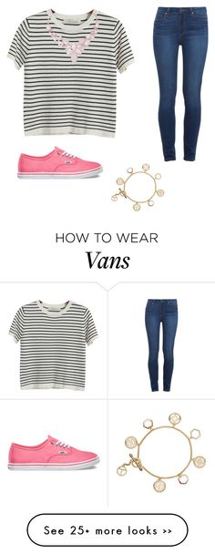 """""""Comfy preppy everyday outfit"""" by dooleymm on Polyvore featuring Chicnova Fashion, Paige Denim, Vans, Humble Chic and Tory Burch"""