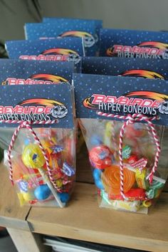 Sachets de bonbons -  Anniversaire Beyblade - Beyblade Party