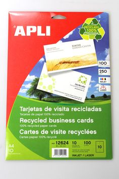 Stationery Companies, Printable Business Cards, Inkjet Printer, Recycling, Eco Green, Printables, Paper Products, Printers, Reuse