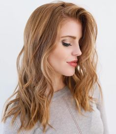 Reddish Blonde Hair Color - Best Color to Dye Gray Hair Check more at http://frenzyhairstudio.com/reddish-blonde-hair-color/