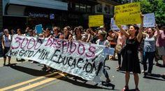 Desde finales de 2016 los trabajadores del Ministerio de Educación denuncian los despidos injustificados. | Foto: @CiudadCCS