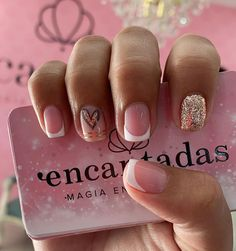 French Manicure Nail Designs, Nail Art Designs, Cute Nails, My Nails, Precious Nails, Short Square Acrylic Nails, Summer Gel Nails, Semi Permanente, Mani Pedi