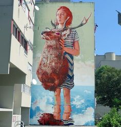 "elgraffiti: """"The roadkill""  Fintan Magee! - Torrevecchia Rome Italy.  Support by @galleriavarsi & Muracci Nostri  #fintanmagee #torrevecchia #rome #italy #graffiti #streetart #urbanart #elgraffiti #art #mural @fintan_magee"""