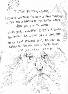 Page seven of Neil Gaiman and Chris Riddell's book Art Matters. ART MATTERS by Neil Gaiman, illustrated by Chris Riddell is published by Headline on September Reading Quotes, Writing Quotes, Writing Advice, Writing A Book, Writing Prompts, Book Quotes, Library Quotes, Bookworm Quotes, Reading Posters