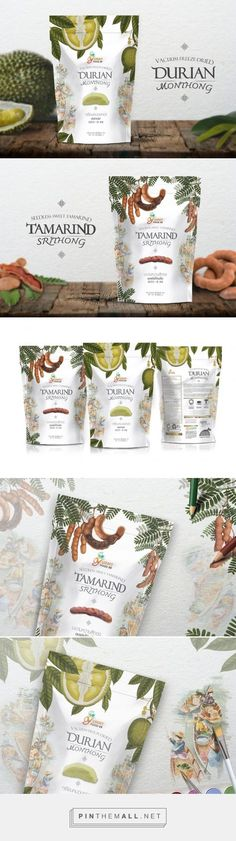 Thai Dried Fruits - Packaging of the World - Creative Package Design Gallery - http://www.packagingoftheworld.com/2017/03/thai-dried-fruits.html