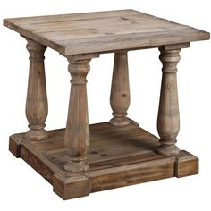 Kloss Side Table in Natural Wax at Joss and Main Diy End Tables, End Tables With Storage, Side Tables, Reclaimed Wood Frames, Weathered Wood, Buy Wood, Grey Wash, Wood Accents, Joss And Main