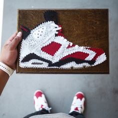 Des sneakers en String Art
