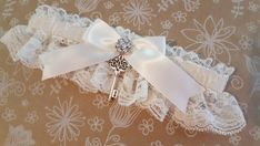 Items similar to Ivory Lace Key to My Heart Bridal Garter Wedding Garter on Etsy Unique Wedding Favors, Wedding Themes, Unique Weddings, Wedding Ideas, Wedding Season, Fall Wedding, Dream Wedding, Ivory Wedding, Fragrant Candles