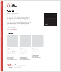 Proposed about page design