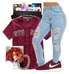 """Stussy"" by polyvoreluv ❤ liked on Polyvore featuring Stussy and NIKE"