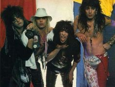 Nikki sixx, vince neil, mick mars and tommy lee