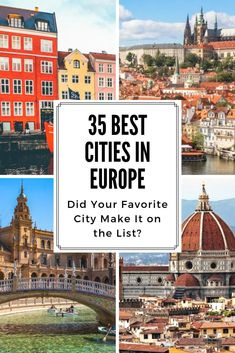 Looking for some Europe Travel Tips? Want to know what the absolute best cities to visit in Europe are? Here are 35 of our favorite places to vacation in Europe! Did your favorite make the list? #europe #vacation #travel #europeantravel