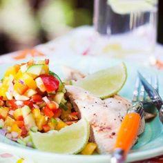 Kyckling med grönsakssalsa - Recept - Tasteline.com 5 2 Diet, Frisk, Potato Salad, Salsa, Rolls, Potatoes, Mexican, Chicken, Ethnic Recipes