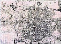 Mapa del Madrid de los Austrias
