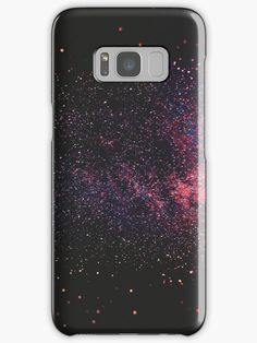 Starry night, purple, navy, black and red night sky-scape. • Also buy this artwork on phone cases, home decor, stationery, and more.