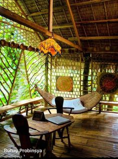 Bahay Kubo Tropical House Design PhilippinesSo for some good Bahay Kubo Tropical House Design Philippines, check out our ga Bamboo House Design, Tropical House Design, Tropical Houses, Tropical Style, Bamboo Architecture, Tropical Architecture, Architecture Design, Philippine Houses, Jungle House
