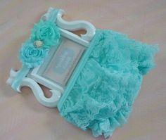 Aqua lace baby Bloomer,Mint Ruffle Diaper Cover,Photo Prop, Newborn Ruffle Diaper covers, Baby Blue Newborn Bloomer Set, Aqua baby girl gift