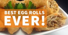 egg rolls Egg Roll Wrappers, Egg Roll Recipes, Frying Oil, Shredded Carrot, Egg Rolls, Serving Plates, Yummy Eats, Asian Recipes, Family Meals