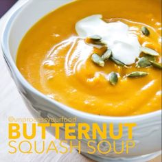 Butternut Squash Soup from unprocessyourfood's video on Instagram
