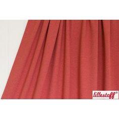 Red Melange Solid Organic Jersey by Lillestoff - UK seller