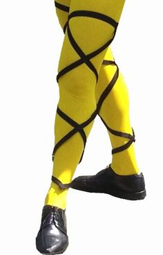 A pin of cross-gartered leggings. Malvolio believed that Olivia wanted him to wear them because it was requested in the letter Maria forged.