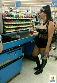 Biker Beams in Black at Walmart - Funny Pictures at Walmart Weird People At Walmart, Only At Walmart, Funny People, Funny Walmart Pictures, Walmart Funny, Funny Photos, Plus Size Blog, Walmart Shoppers, Fashion Fail