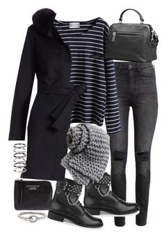 """""""Untitled #19429"""" by florencia95 ❤ liked on Polyvore featuring H&M, Yves Saint Laurent, Fleurette, Acne Studios and M.N.G"""