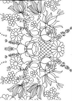 Discussion on LiveInternet - Russian Service Online Diaries Floral Embroidery Patterns, Folk Embroidery, Ribbon Embroidery, Embroidery Designs, Old School Rose, Tole Painting Patterns, Paint Patterns, Folk Art Flowers, Pencil Design