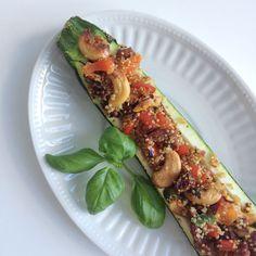 Wat eet je dan wel? -   Gevulde courgette met quinoa