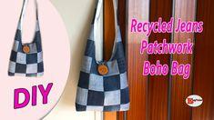 Pencil Case Tutorial, Diy Bags Tutorial, Recycle Jeans, Diy Recycle, Diy Jeans, Diy Bags No Sew, Patchwork Jeans, Boho Bags, Recycled Denim