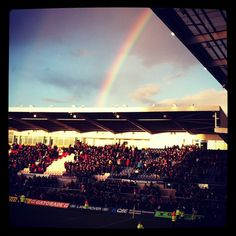 rainbow over franklinsgardens saints rugby - We did it! From today Instagram weather photos are on Metwit.com - Real Weather from real People metwit.com/...  http://metwit.com/weather/instagram/365/
