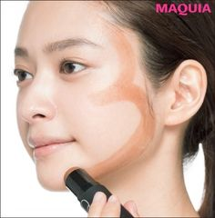 Just draw the letter 3 and get a small face! KUBOKI style contouring - Beauty World Asian Eye Makeup, Korean Makeup, Hair And Makeup Artist, Hair Makeup, Beauty Makeup Photography, Contour Makeup, Face Contouring, Makeup Techniques, Aesthetic Makeup