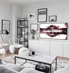 Lanna Ivory Sheepskin Throw 2 x 6 - wohnzimmer ideen - Apartment Decor Small Living Room Furniture, Living Room Tv, Interior Design Living Room, Home And Living, Living Room Designs, Cozy Living, Living Room Ideas With Grey Couch, Black White And Grey Living Room, White Tv