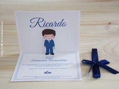 Convite de Comunhão para menino Communion Invitation for boy
