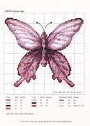 Schematic cross stitch Butterfly Purple