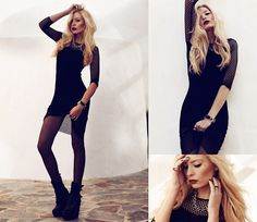 Anila ♡ - Sheinside Dress - All black