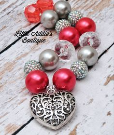 Chunky Bubblegum Beaded Necklace ~~ great with leftover project beads