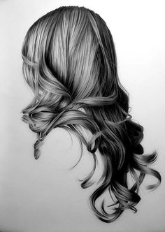 this shows texture by the way that the artist drew the hair. it reminds me of feeling soft and curly hair