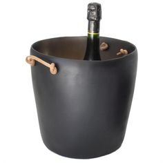 Resin Champagne Bucket - Leather Handles | Tina Frey | HORNE