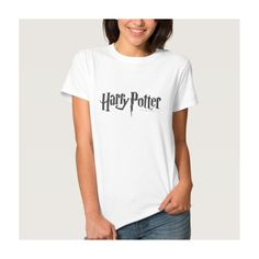Harry Potter 2 T Shirts ($21) ❤ liked on Polyvore featuring tops, t-shirts, white top, white tee and white t shirt